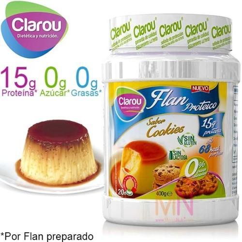 Flan Proteico sin azúcares - 400g(20 Flanes)