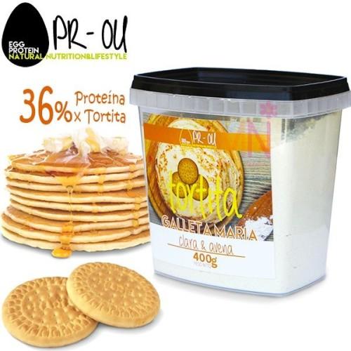Tortitas proteicas de Clara de Huevo y Avena - 400G
