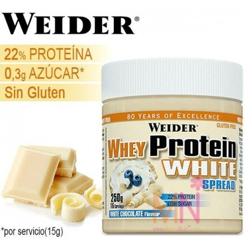 Crema Proteica de Chocolate Blanco WHEY PROTEIN WHITE 250g
