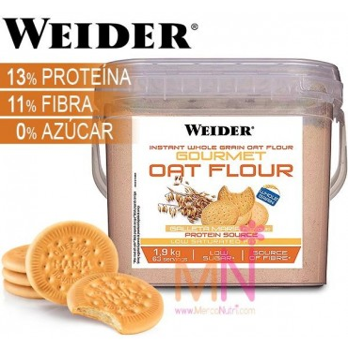 Harina de Avena integral instantanea Gourmet Oat Flour - 1,9kg