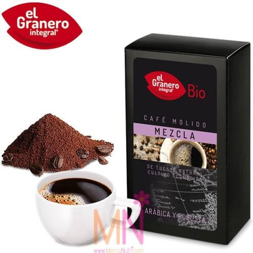 Café Molido mezcla Arábica y Robusta Bio 250g