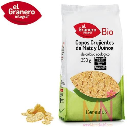 Copos Crujientes de Maíz y Quinoa BIO 350g