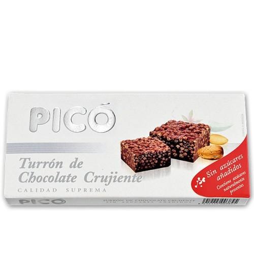 Turrón de Chocolate Crujiente sin azúcar 200g