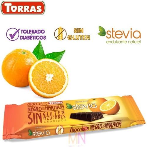 Chocolatina Stevia con Naranja sin azúcar 35g