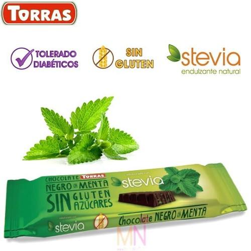 Chocolatina Stevia con Menta sin azúcar 35g