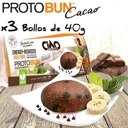 PROTOBUN Cacao (Bollos de Cacao bajos en calorías) - 3 unid.