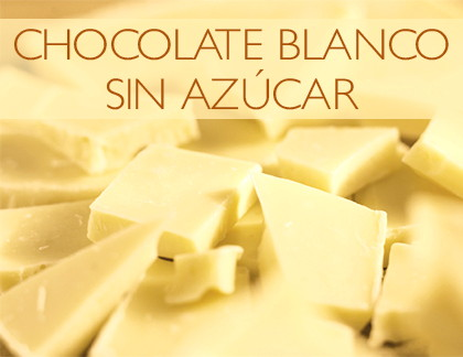 chocolate blanco sin azúcar