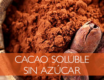 Chocolate soluble sin azúcar