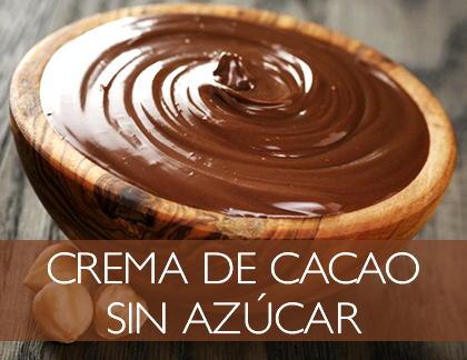 Cremas de chocolate sin azúcar