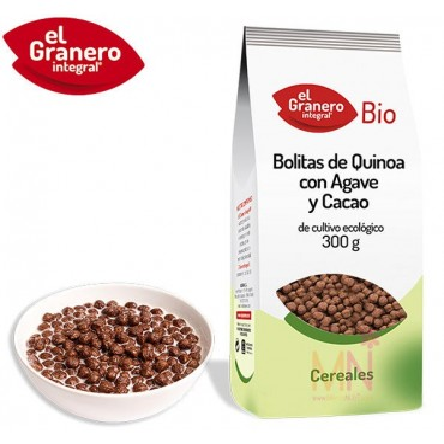 Bolitas de Quinoa con Agave y Cacao BIO 300g