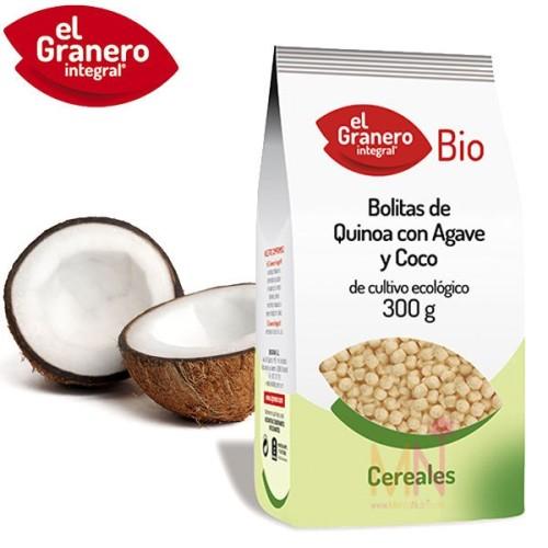 Bolitas de Quinoa con Agave y Coco BIO 300g