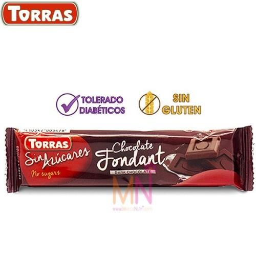 Chocolatina de Chocolate Fondant sin azúcar 30g