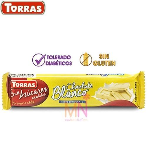 Chocolatina de Chocolate blanco sin azúcar 30g