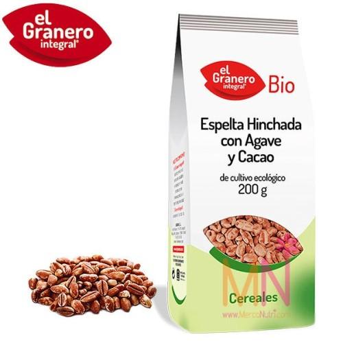 Espelta hinchada con Agave y Cacao BIO 200g