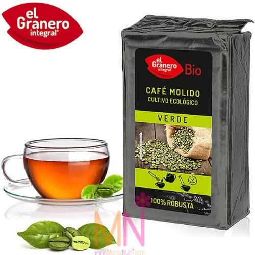Café Verde Molido 100% robusta Bio 400g