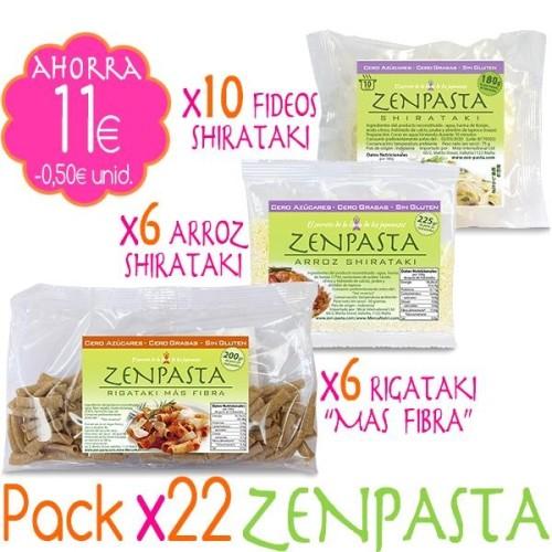 Pack x22 ZENPASTA Shirataki - 25unid.