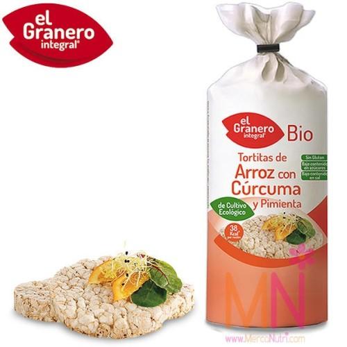Tortitas de Arroz com Cúrcuma y Pimineta BIO 115g