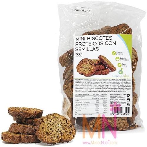 Mini Biscotes Proteicos con semillas 100g