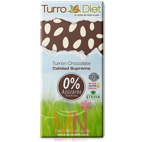 Turrón de Chocolate Negro sin azúcar Calidad Suprema 150g
