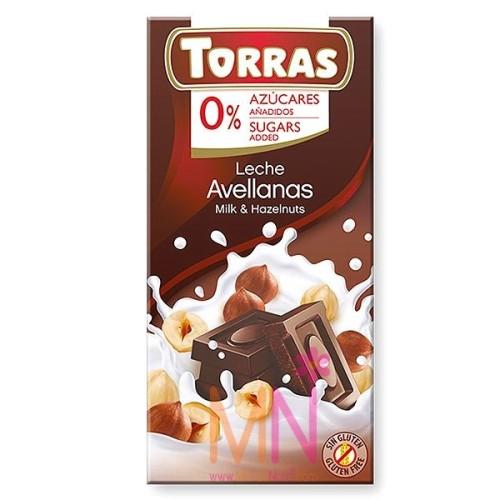 Chocolate con Leche y Avellanas - 75g