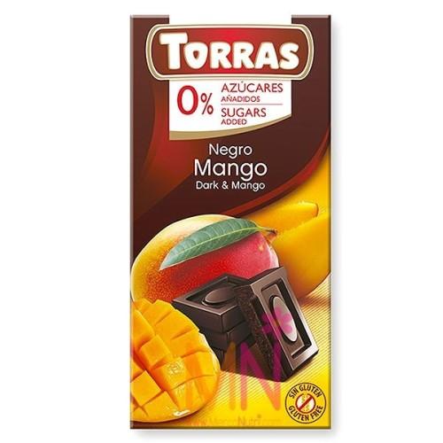 Chocolate negro con Mango sin azúcar - 75g