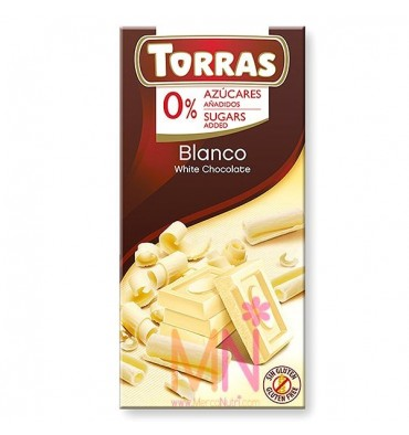 Chocolate blanco sin azúcar - 75g