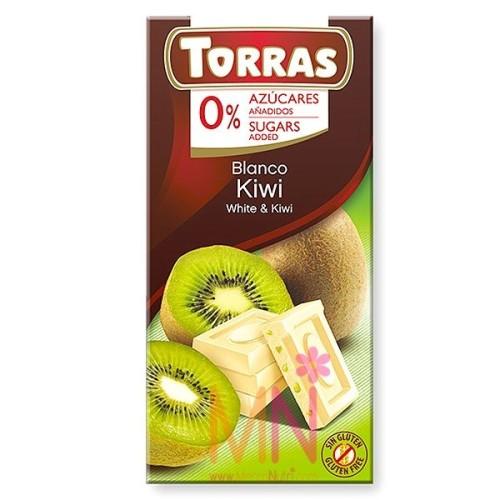 Chocolate blanco con Kiwi sin azúcar - 75g
