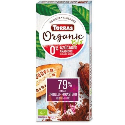 Chocolate negro 79% sin azúcar Ecológico 100g