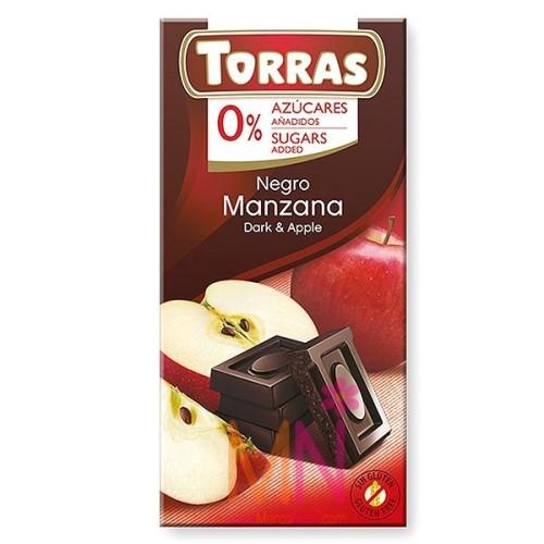 Chocolate Negro con Manzana sin azúcar - 75g