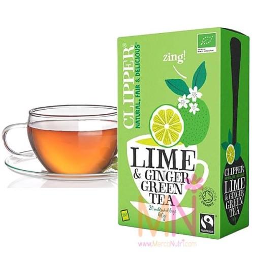 Té Verde Ecológico con Lima y Jengibre 20 bols.
