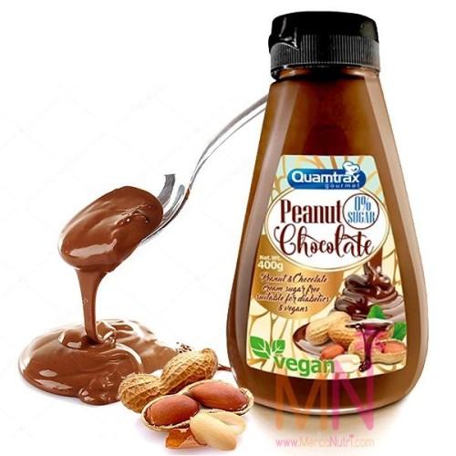 Crema de Cacahuete y Chocolate sin azúcar 400g