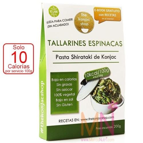 Tallarines de Espinacas Konjac 200g