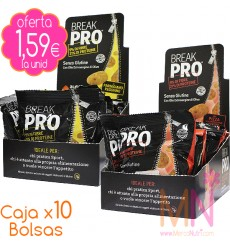 Caja x10 Snacks proteicos sin gluten BREAK PRO 300g