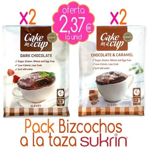 Pack x4 Bizcochos a la taza SUKRIN