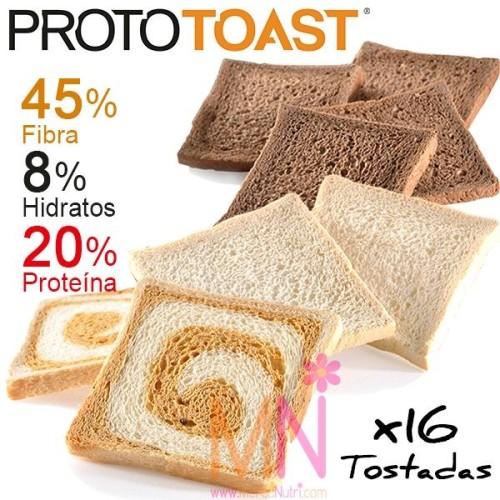 PROTOTOAST Fase 2 (Tostadas bajas en calorías) 20 Tostadas (200g)