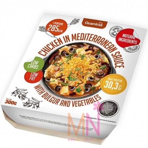 Comida proteica de Pollo con salsa Mediterránea 300g