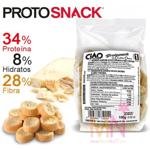 PROTOSNACK Queso (Snacks bajos en calorías) 100g