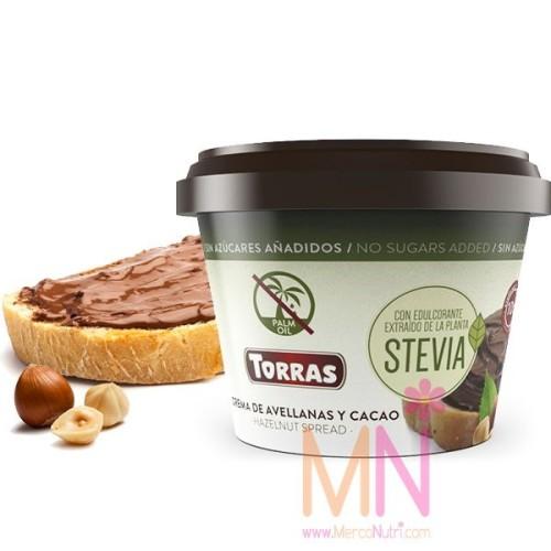 Crema de Cacao Stevia con Avellanas 200g