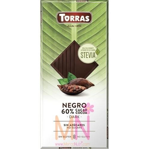 Chocolate Negro con Stevia 100g