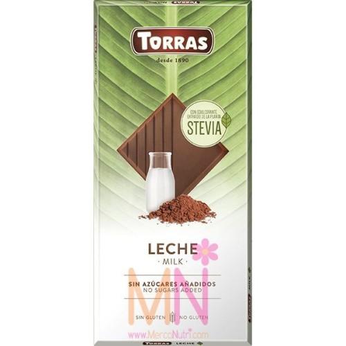 Chocolate Stevia con leche  - 100g