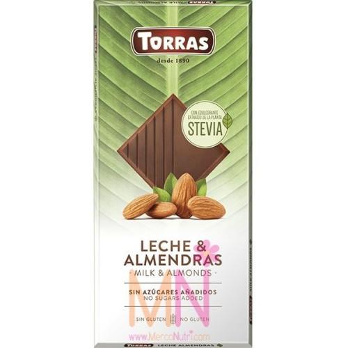 Chocolate Stevia con Leche y Almendras - 125g