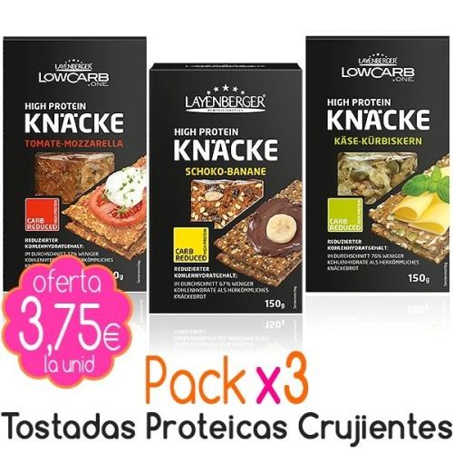 Pack x3 Tostadas proteicas crujientes 450g