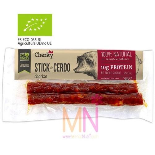 Sticks de Chorizo proteico Ecológico 25g