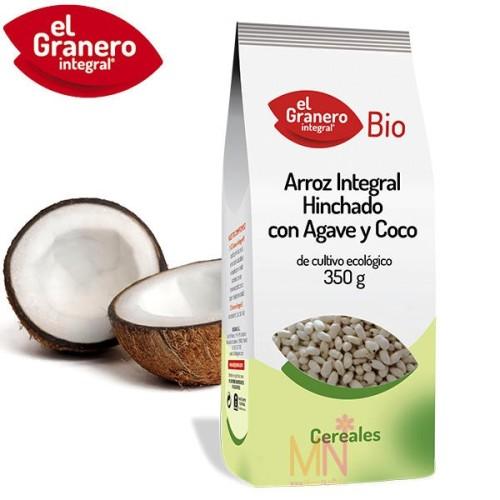Arroz Integral Hinchado con Agave y Cacao BIO 350g